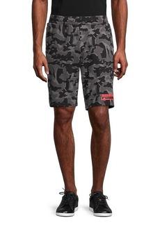 Puma Core Camo-Print Cotton Shorts