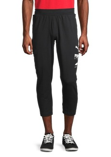 Puma Cotton-Blend Cropped Pants