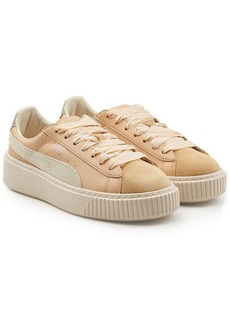 Puma Creeper Sneakers with Suede and Leather