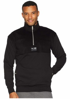 Puma Downtown Half Zip Turtleneck Top