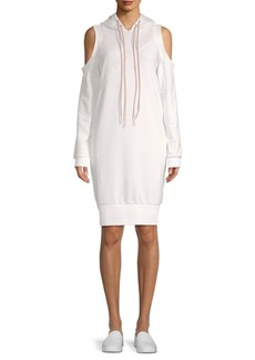 Puma En Pointe Cold-Shoulder Sweatshirt Dress