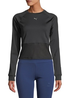 Puma En Pointe Fitted Long-Sleeve Top
