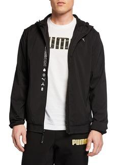 Puma Energy Printed Zip-Front Hooded Jacket