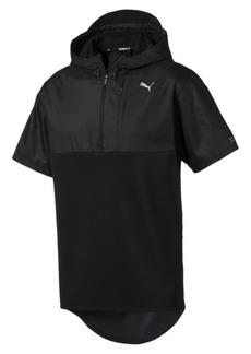 Puma Energy Short Sleeve 1/4 Zip Hooded Men's Running Pullover