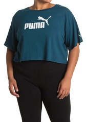 Puma Essentials Cropped Logo Tee