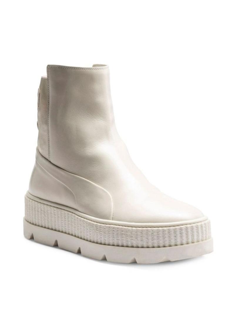uk availability f0107 79c32 FENTY x Rihanna Leather Chelsea Sneaker Boots