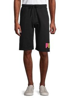 Puma Fleece Big Logo Drawstring Shorts