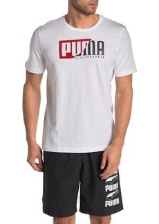 Puma Flocked Logo T-Shirt