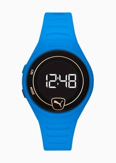 Puma Forever Faster WH Blue Digital Watch
