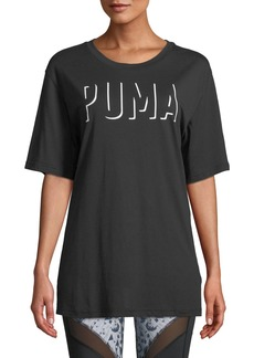 Puma Fusion Elongated Logo Outline Tee