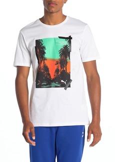 Puma Graphic Palms Photo T-Shirt