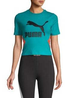 Puma Graphic Stretch-Cotton Cropped Top