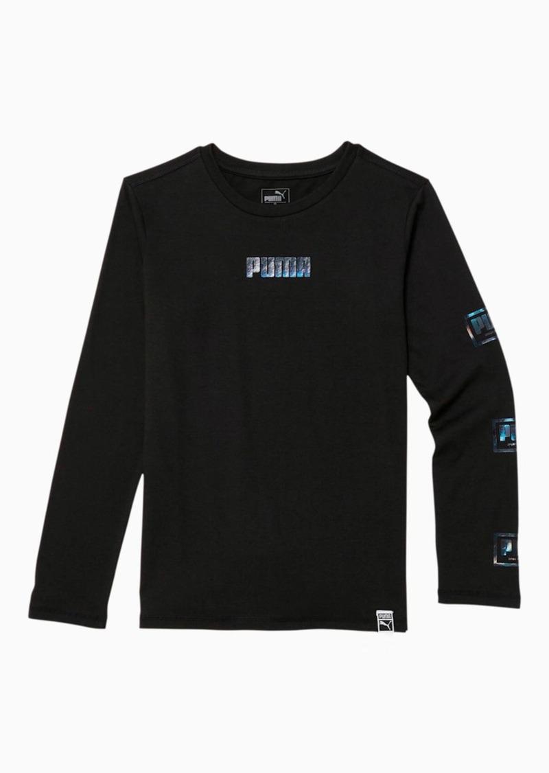 Puma Holiday Pack Boys' Long Sleeve Graphic Tee JR