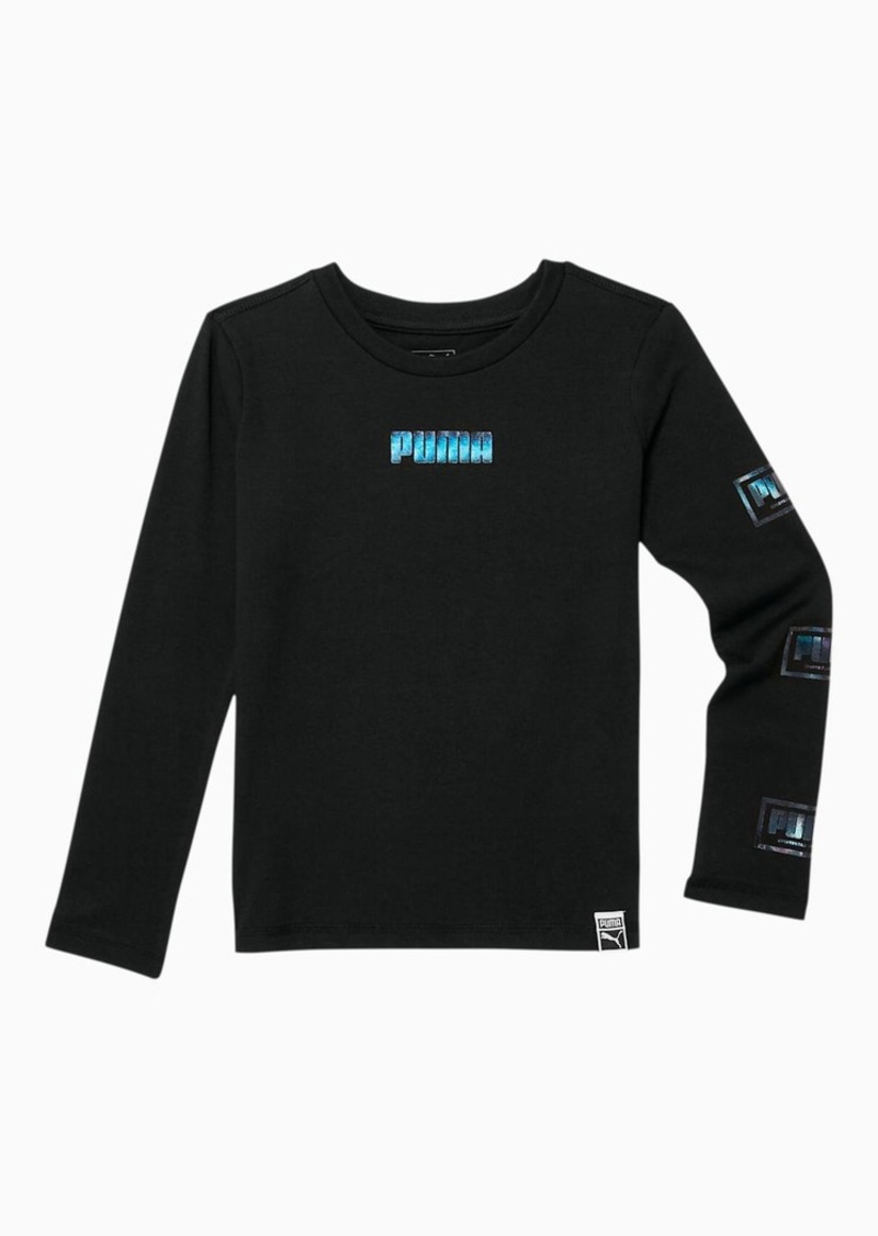 Puma Holiday Pack Little Kids' Long Sleeve Graphic Tee