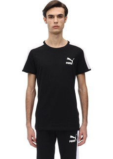 Puma Iconic Logo Slim Cotton Jersey T-shirt