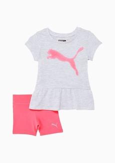Puma Infant + Toddler Tee + Biker Short Set