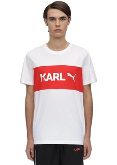 Puma Karl Lagerfeld Cotton Jersey T-shirt