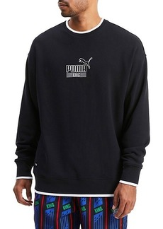 Puma King Logo Stretch-Cotton Sweatshirt