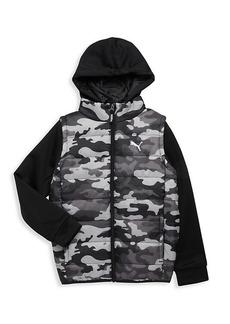 Puma Little Boy's Camo Vest Jacket
