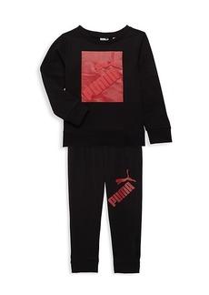 Puma Little Boy's Sweatshirt & Jogger Pants Set