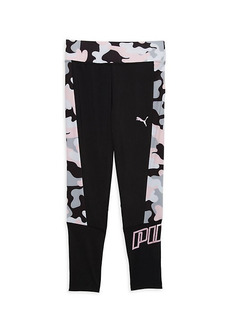 Puma Little Girl's Logo Camo Leggings