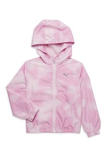 Puma Little Girl's Zip-Up Windbreaker