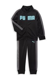 Puma Little Kid's Tricot 2-Piece Track Jacket & Pants Set