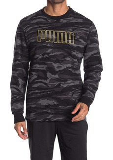 Puma Logo Camo Fleece Sweatshirt