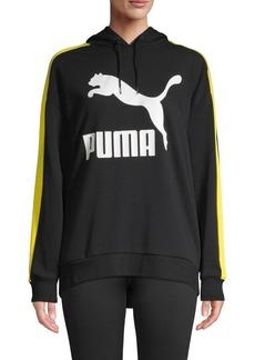 Puma Logo Cotton Blend Hoodie
