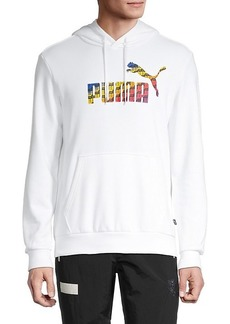 Puma Logo Cotton-Blend Hoodie