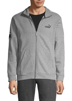 Puma Logo Cotton-Blend Track Jacket