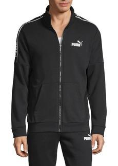 Puma Logo Cotton-Blend Zip Track Jacket