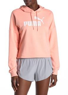 Puma Logo Cropped Hoodie