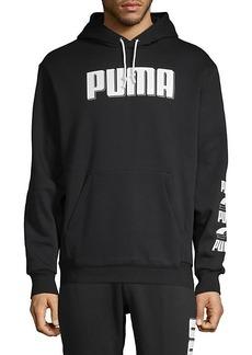 Puma Logo Graphic Cotton-Blend Hoodie