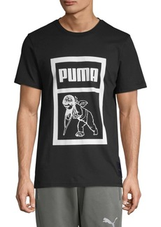Puma Logo Graphic Cotton Tee