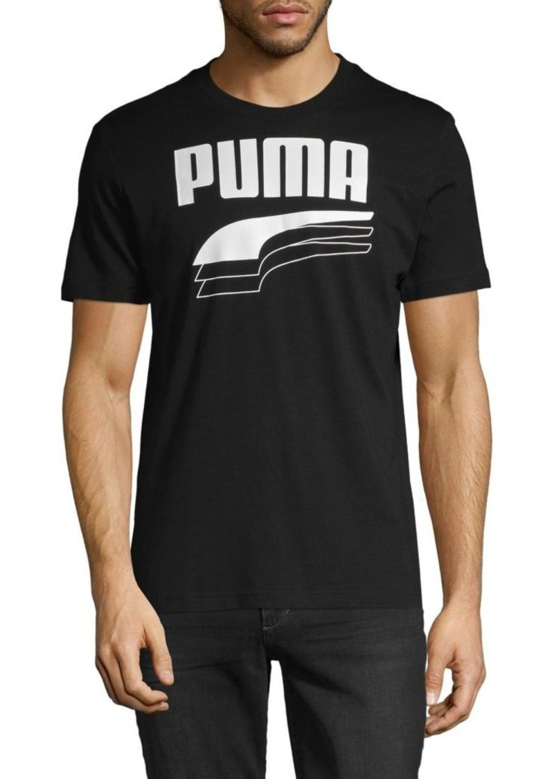 Puma Logo Graphic Stretch-Cotton Tee