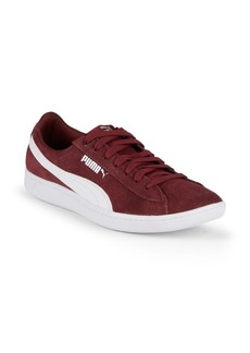 Puma Logo Leather & Suede Low-Top Sneakers