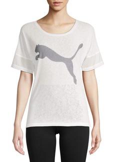 Puma Logo Loose Short-Sleeve Tee