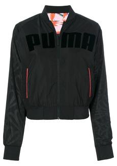 Puma logo print bomber jacket