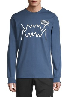 Puma Logo Print Cotton Long Sleeves Shirt