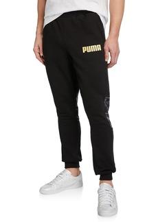Puma Logo Sweatpants w/ Camo Detail