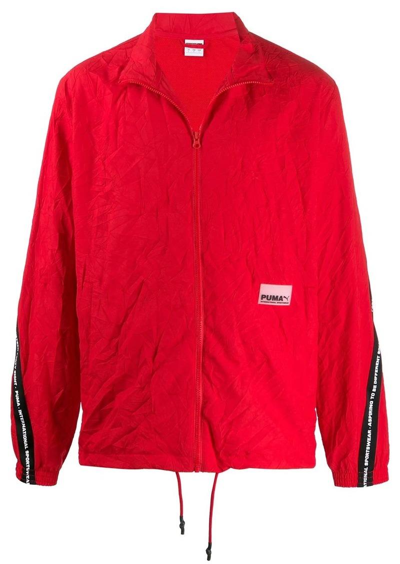 Puma logo-tape crinkle jacket