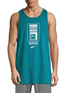 Puma Logo Tower Cotton Tank Top