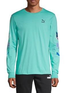 Puma Long-Sleeve Cotton Tee