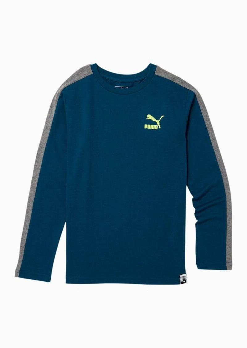 Puma Luxe Pack Boys' T7 Long Sleeve Tee JR