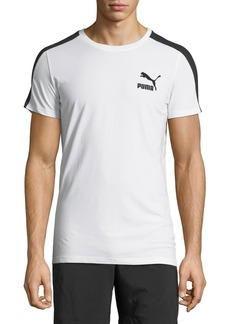 Puma Men's Archive Life Stripe-Sleeve Logo Tee