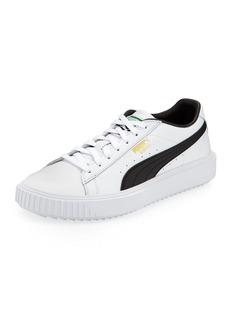 Puma Men's Breaker Leather Sneakers  White/Black