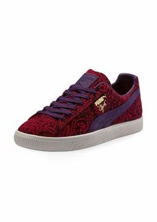 Puma Men's Clyde Paisley Suede Platform Low-Top Sneakers