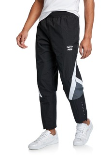 Puma Men's Colorblock Nylon Track Pants