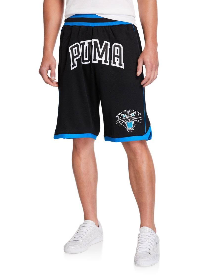 Puma Men's Last Dayz Mesh Embroidered Logo Shorts